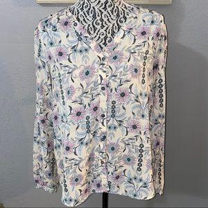 Lauren Conrad Women's Floral Blouse